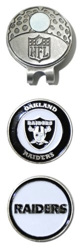 NFL Oakland Raiders Cap Clip With 2 Golf Ball Markers