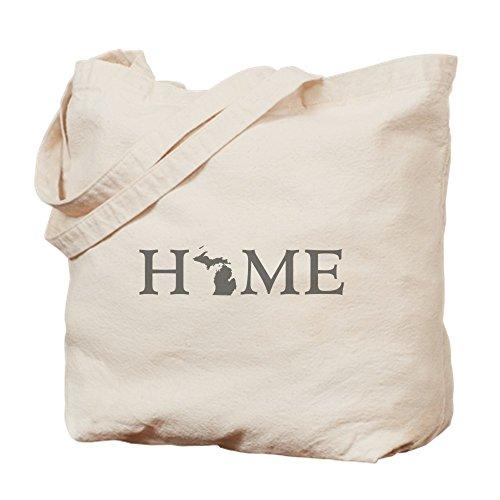 CafePress - Michigan Home - Natural Canvas Tote Bag, Cloth Shopping - Grand Rapids Shopping Michigan