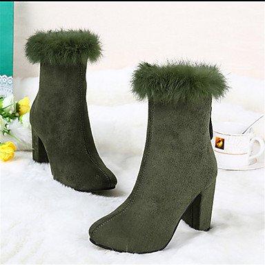 De donna-stivaletti-casual-others-quadrato-di pelle-nero/verde/rosa/gris, army green army green