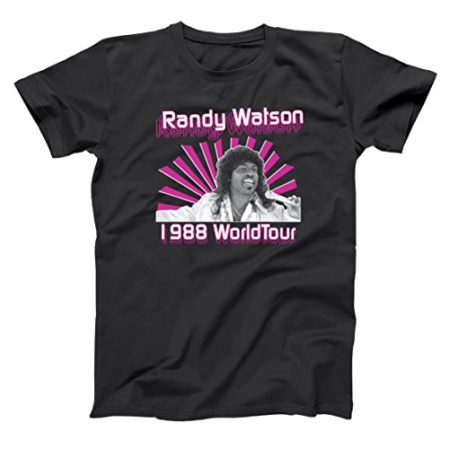 Randy Watson 1988 World Tour Sexual Chocolate Band Jackson Heights Own Hilarious Comedy 80s Movie Humor Mens Shirt XXX-Large Black