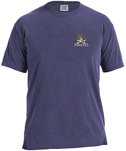 NCAA East Carolina Pirates Simple Circle Comfort Color Short Sleeve T-Shirt, Grape,XX-Large