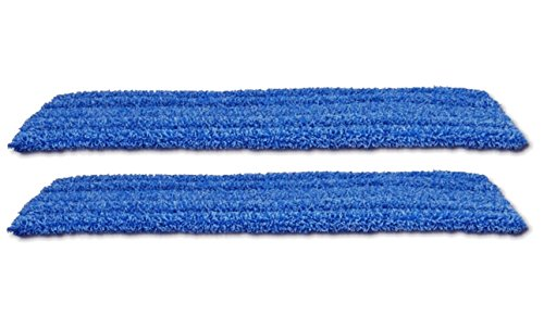 Real Clean 18 Inch Premium Microfiber Wet Mop Pads for Commercial Microfiber Mops (Pack of 2)