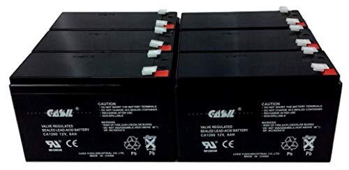 (6 Pack Casil 12v 8ah for Spyder 918 Sports Car Smithlight Traveller Portable Lighting UPS SC 1500VA 12V-2U Rackmount-Tower SC1500 SMART550USB SLA2-BTI UB1280 NP8.5-12 PS-1280 GP1280 12V BP8-12)