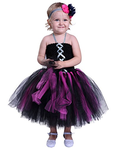 [Tutu Dreams Baby Girl Witch Costume With Headband Size 8] (Baby Girl Witch Halloween Costumes)