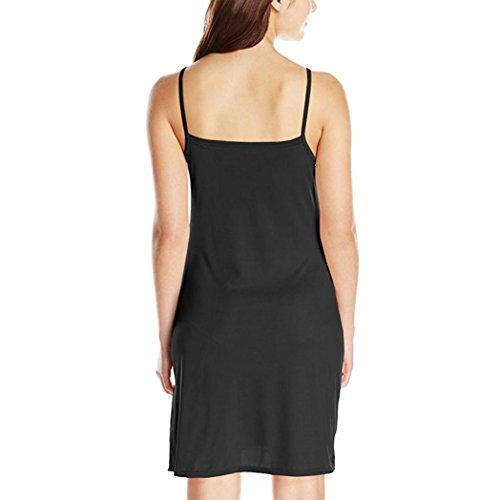 Sans t D't Jupe Solide Lache Mode Mode Yanhoo Dcontractes Robe De Femmes Filles Femmes Robe Soire Noir Dessus Dames Au Au Manches Genou Dames Jupes Robe UvvwqCX