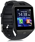 JOKIN Bluetooth Smart Watch Compatible with All 3G, 4G Phone with Camera and Sim Card Support Compatible with iPhone Smartphones (Black)