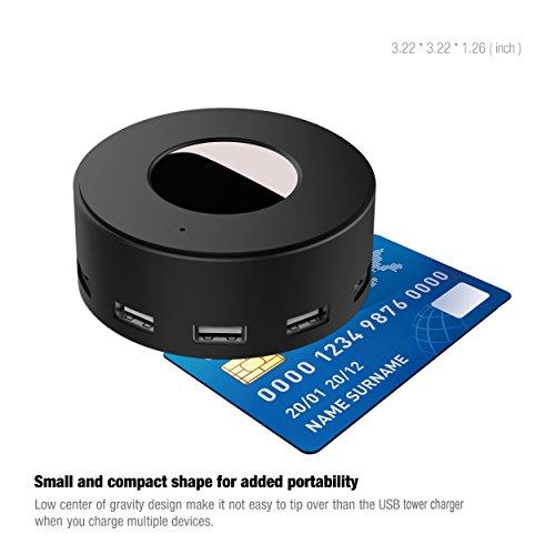 Vogek 6-Port USB Charger Desktop Charging Station Smart Identification (Black) by Vogek (Image #4)
