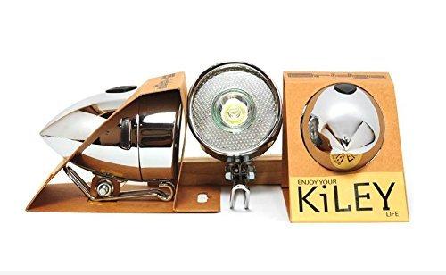 """KiLEY (키레이) 세련된 레트로 감각 만점의 새로운 디자인 """"포탄 라이트""""전면 / LED LM-001 블랙/화이트"""
