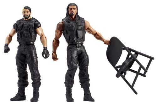 WWE Battle Pack Series #24 Reigns and Rollins Action Figure, 2-Pack (Wwe Action Figures Vickie)