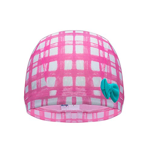 H&C kids Breathe Swim Cap-Sun Protection Hat and Children Bathing Hat-Pink Gflower