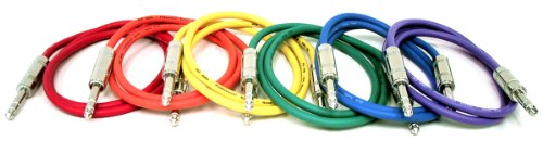 GLS Audio 6ft Patch Cable Cords - 1/4