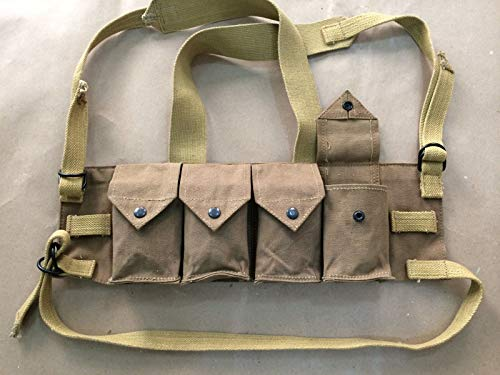 (Chest RIG Rhodesian Fereday & Sons (Reproduction), WWII Reproduction, WW2 Reproduction,WWII/WWI, Collectibles Goods, Collectibles Products,WWII repro)