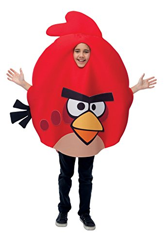 Angry Birds Outfit Funny Theme Party Fancy Dress Child Halloween Costume, Child OS Red