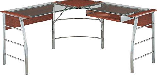 Altra Furniture 9105296COM Wingate Glass Desk Altra Top L, Cherry by Altra Furniture