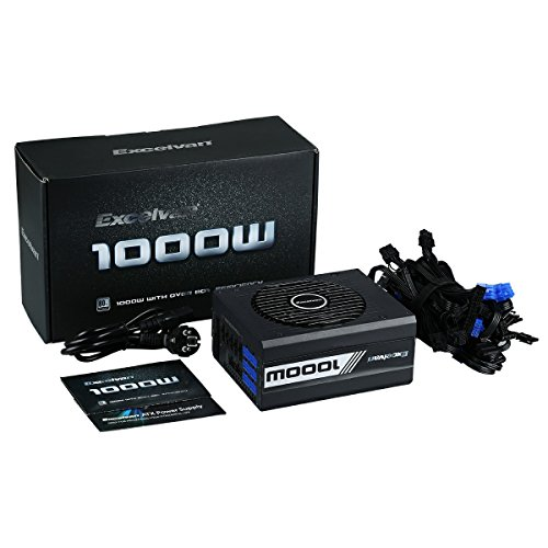 Excelvan ATX Computer Power Supply Desktop PC for Intel AMD PC SATA US (1000W) by Excelvan