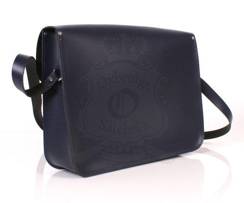 Leather Satchel's, Borsa a spalla uomo Marrone Blu