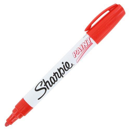 Sharpie Paint Marker Pen Oil Base Medium Point, Red Box of (Pen Oil Base)
