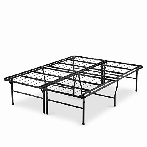 Zinus Casey 18 Inch Premium SmartBase Mattress Foundation / 4 Extra Inches high for Under-bed Storage / Platform Bed Frame / Box Spring Replacement / Strong / Sturdy / Quiet Noise-Free, Queen (Base Raised Bed)