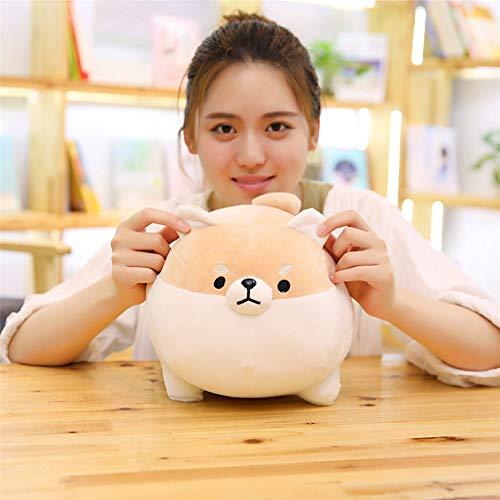 LtrottedJ Anime Shiba Inu Plush Stuffed Sotf Pillow Doll Cartoon Doggo Cute Shiba Soft Toy (Brown) -