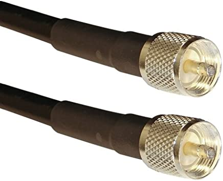 | MIL-C-17//163A RG-213//U PL259 Low-Loss Double Shielded Coax Cable TM MPD Digital Ham and CB Radio PL-259 UHF Male RG-213 Coaxial Jumper Made in The USA 15 ft US Made RG-213 Coax