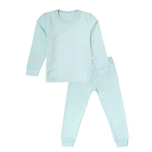 Enfants Chéris Toddler Boys Girls Jammies Stripes Soft Cotton Pajamas, (Green, 6T)