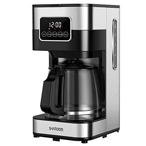 SHARDOR Filter Coffee Machine, 1.5 Litre Drip Coffee Maker, Touch-Screen Programmable Coffee Machine, Automatic Start…