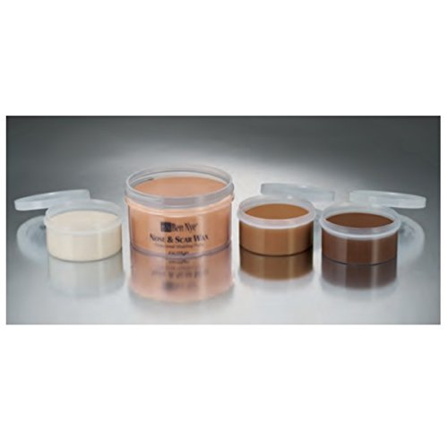 [Ben Nye Nose & Scar Wax, Light Brown 8oz] (Costume Makeup Wax)