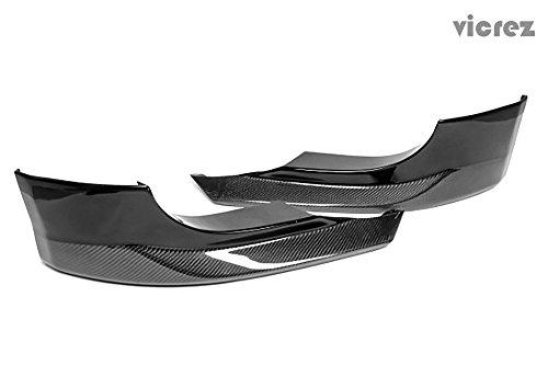 E60 Carbon (Vicrez BMW 5 Series E60 M5 2006-2010 Carbon Fiber Front Bumper Lip Splitters - vz100411)