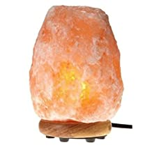 WBM International 1003 Hand Carved Natural Salt Crystal Lamp, 6.25 x 6.25 x 10.5-Inch, Pink