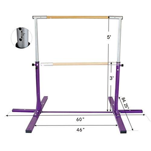 Bestmart INC Adjustable Height Kip Bar for Gymnastics(Purple) by Bestmart INC (Image #7)