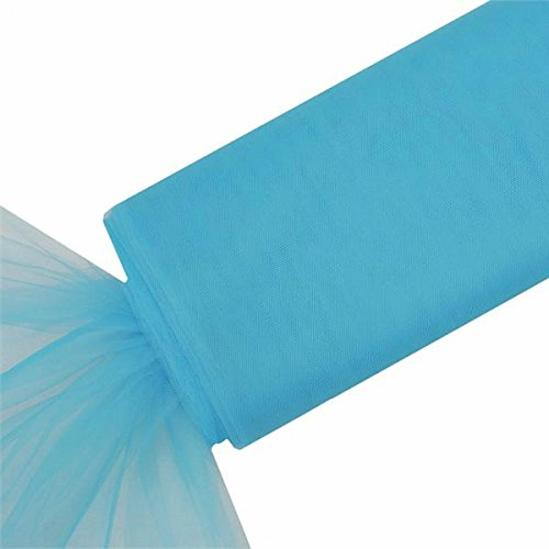 - BalsaCircle 54-Inch x 120 feet Turquoise Large Net Tulle Fabric by The Bolt - Wedding Party Decorations Sewing DIY Crafts Costumes