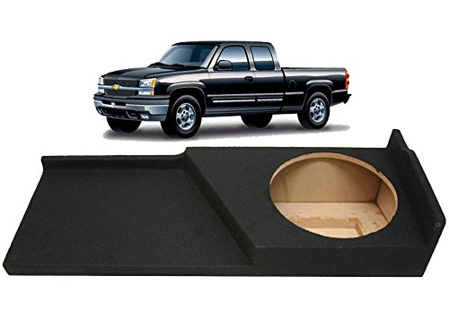 Compatible with Chevy Silverado or GMC Sierra Full Size Extended Cab Truck 2007-2013 Single 10″ Subwoofer Sub Box Speaker Enclosure