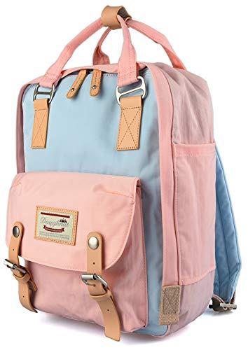 goldwheat School Backpack Laptop Bag for Teen Girls Waterproof Bookbag College Back Pack,Fits 14inch Laptop,Pink