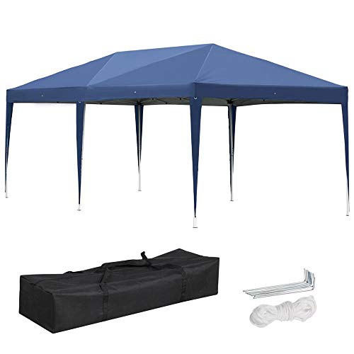 Yaheetech 10' X 20' Outdoor Easy Pop up Canopy - Heavy Duty Gazebo Pavilion for Party Wedding Events BBQ ()