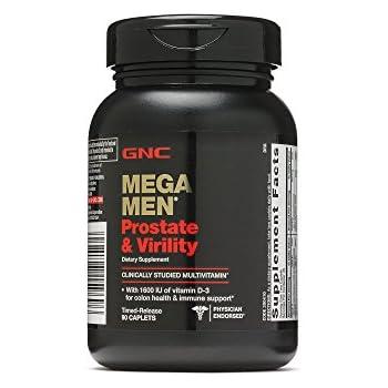 amazon   gnc mega men prostate and virility 90 caplets
