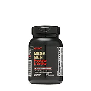 GNC Mega Men Prostate and Virility Multivitamin with Saw Palmetto Lycopene
