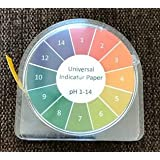 Universal pH test strips Roll, Full Range 1-14 Test paper Strip - 5m Roll With Dispenser and Color Chart
