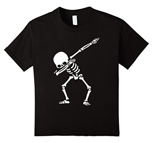 [Kids Skeleton Dabbing Trendy- Easy Halloween Costume 2017 12 Black] (Witty Costumes 2017)