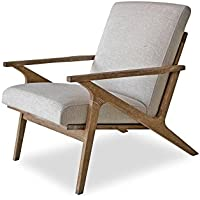 Edloe Finch EF-Z4-LC005W Soren Mid-Century Modern Accent Chair Lounge Living Room, Swan white