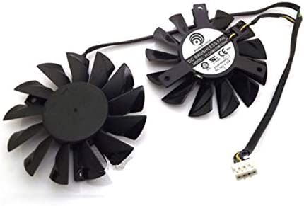 QHXCM for PLD08010S12HH 12V 0.35A 75mm Fan for MSI Radeon HD7970 3GB Twin FrozrIII Cooling Fan Cooler 4Pin