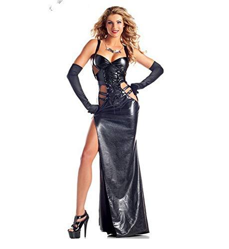 Wet Costume Sexy Lingerie Clubwear Gonna Clubwear Angelo Abito Cuoio Halloween Ballo Ballo Da Look Body Da Nero Vestito XSQR wCF6Pxq