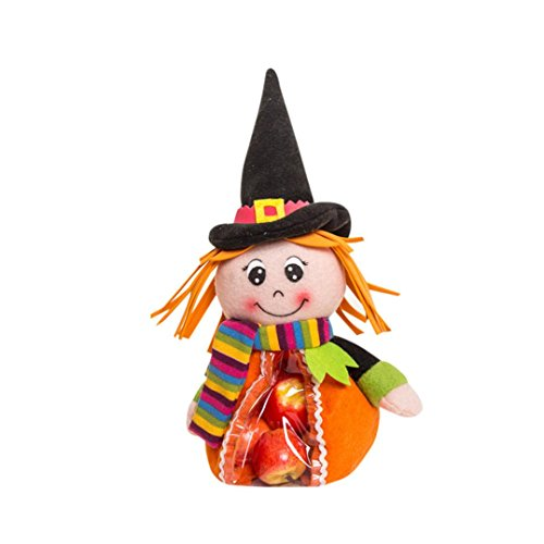 Vibola Personalized Halloween Bags Candy Bags Gift Sacks Pumpkin Bags for Halloween Presents (Multicolor B) Personalized Theme Candy Jars