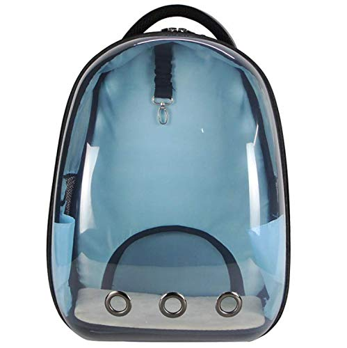 Light bluee GUOWEIKD's store Pet Waterproof Lightweight Capsule Handbag Multiple Air Vents Breathable Pets Cats Dog Animals Safe RucksackComfortable Breathable Pet Backpack 42x29x27CM, Light bluee