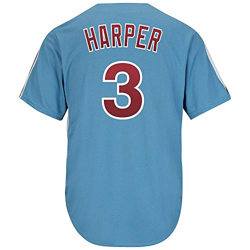 CNmlb Men's/Women/Youth_Philadelphia_Bryce_Harper_#3_Light_Blue_Alternate_Cool_Base_Player_Jersey