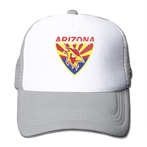 - Unisex Arizona State Flag Ball Trucker Cap Suitable for Indoor or Outdoor Activities Gray