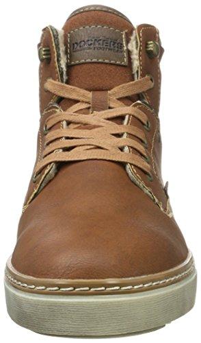 By ginnastica marrone 610410 reh scarpe Dockers Gerli alte da 41mc104 7BgPnqA