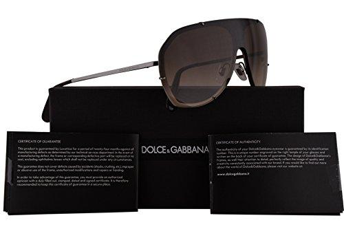 Dolce & Gabbana DG2162 Sunglasses Gunmetal Brown w/Brown Gradient 137mm Lens 0413 DG - And Sunglasses Dolce Gabbana Collection New