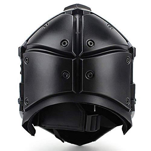 QZY Fast Tactical Casque Full Face Protectrice avec Visière Lunettes, pour La Chasse De Paintball Airsoft Moto Militaire… 3