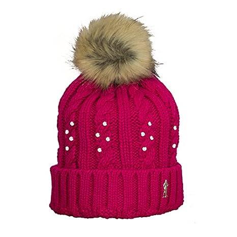 f6033991983 Surprizeshop Women Crystal Embellished Bobble Hat - Black  Amazon.co.uk   Sports   Outdoors