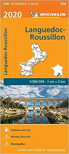 Michelin Karte 526 Wasser- und reißfest, Languedoc-Roussillon Montpellier, Perpignan, Nîmes, Mende, Béziers, Narbonne, Carcassonne touristische Straßenkarte 1:200.000, indéchirable: Amazon.es: Michelin: Libros